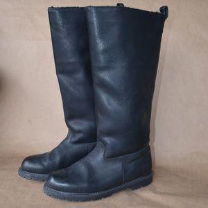 * EDDIE BAUER Vintage Sheepskin/Leather Boot Sz 8